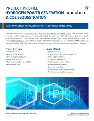 Hydrogen Power Generation & CO2 Sequestration