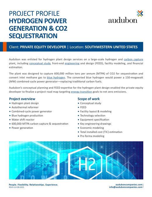 Hydrogen Power Generation & CO2 Sequestration