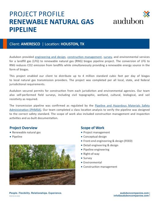 Renewable Natural Gas Pipeline