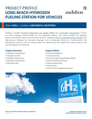 Long Beach Hydrogen Fueling Station for Vehicles