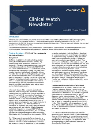 March 2021 Clinical Watch Newsletter