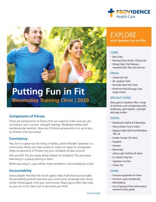 2021 Bloomsday Flyer-Putting Fun in Fit