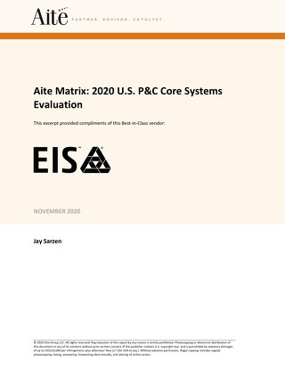 TMNAS: Now's the time to leverage EIS, recognized by Aite in the 2020 U.S. P&C Core Systems Evaluation.