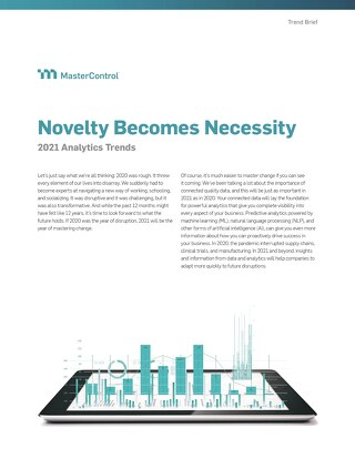Novelty Becomes Necessity 2021 Analytics Trends