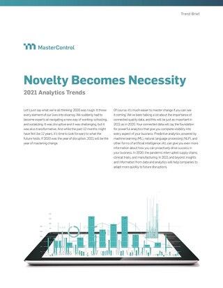 Novelty Becomes Necessity 2021 Analytics Trends