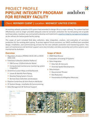 Refinery Pipeline Integrity Program