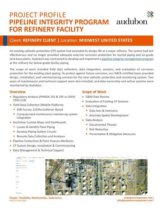 Refinery Pipeline Integrity Program