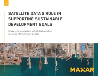 Satellite data's role in supporting sustainable development goals