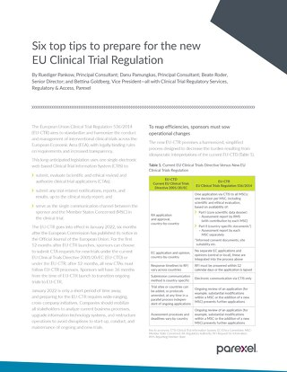 Six top tips to prepare for the new EU Clinical Trial Regulation
