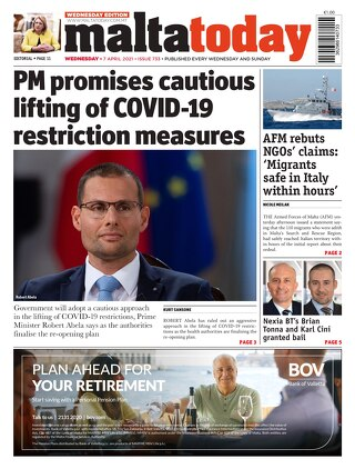 MaltaToday 7 April 2021 MIDWEEK