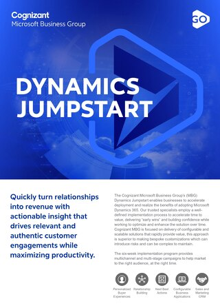 Cognizant MBG GO Dynamics Jumpstart 2021 Flyer
