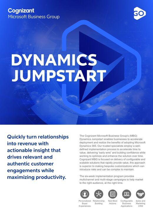 Cognizant MBG GO Dynamics Jumpstart 2021 Flyer