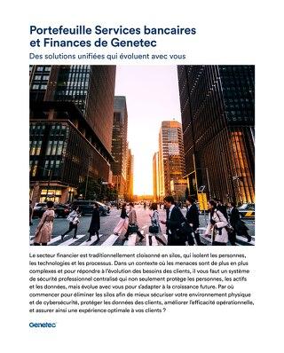 Les solutions Genetec pour le secteur bancaire et financier