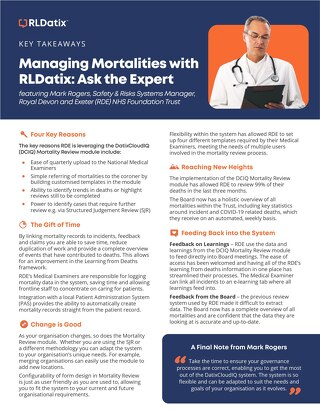 Managing Mortalities with RLDatix: Ask the Expert Key Takeaways