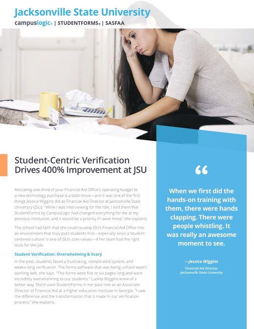 Student-Centric Verification Drives 400% Improvement at JSU