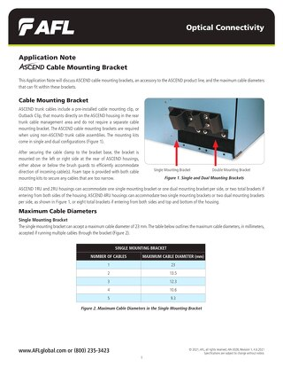 Application Note: ASCEND® Cable Mounting Bracket