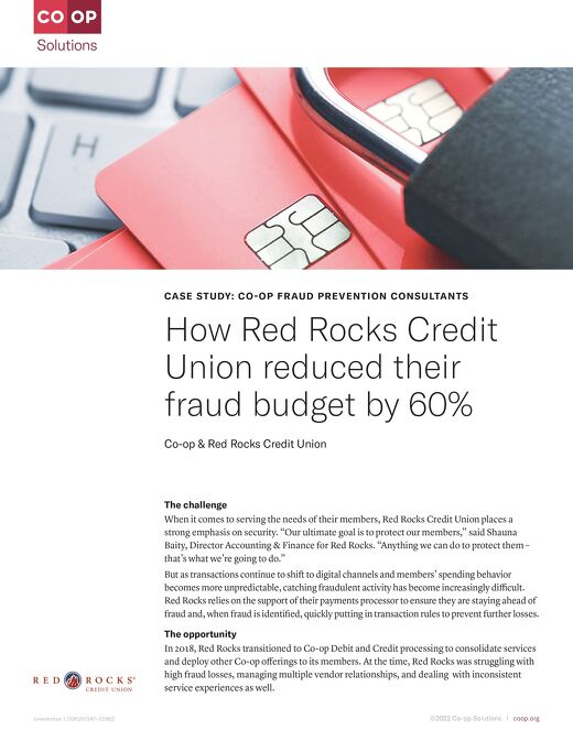 How Red Rocks CU Saved 60% of the Fraud Budget With CO-OP Fraud Consultants