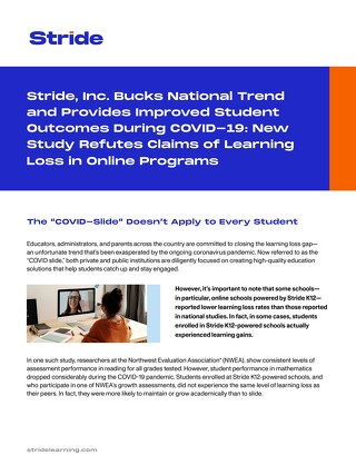 Stride NWEA Study On Learning Loss
