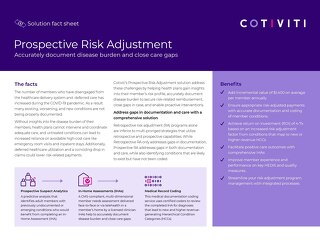 Prospective Risk Adjustment solution