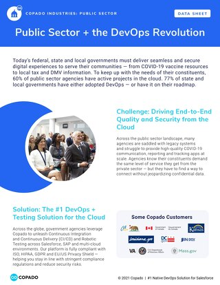 Copado for the Public Sector