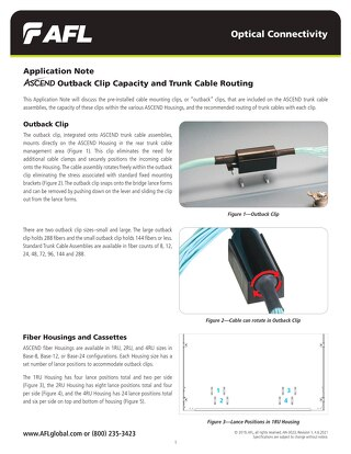 Application Note: ASCEND® Outback Clip Capacity and Trunk Cable Routing