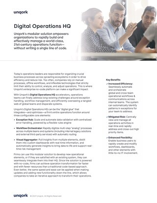 Solution Brief: Digital Operation HQ