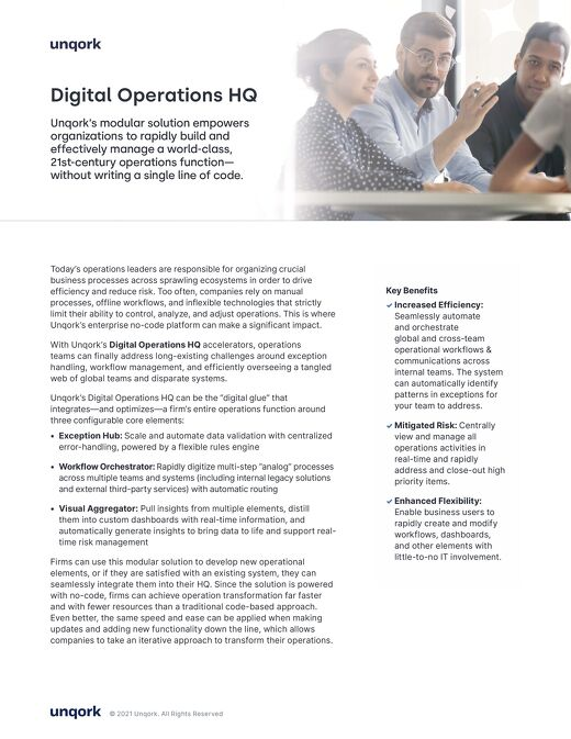 Solution Brief: Digital Operations HQ