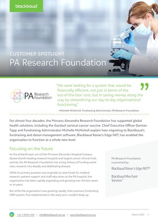 Customer Spotlight: PA Research Foundation