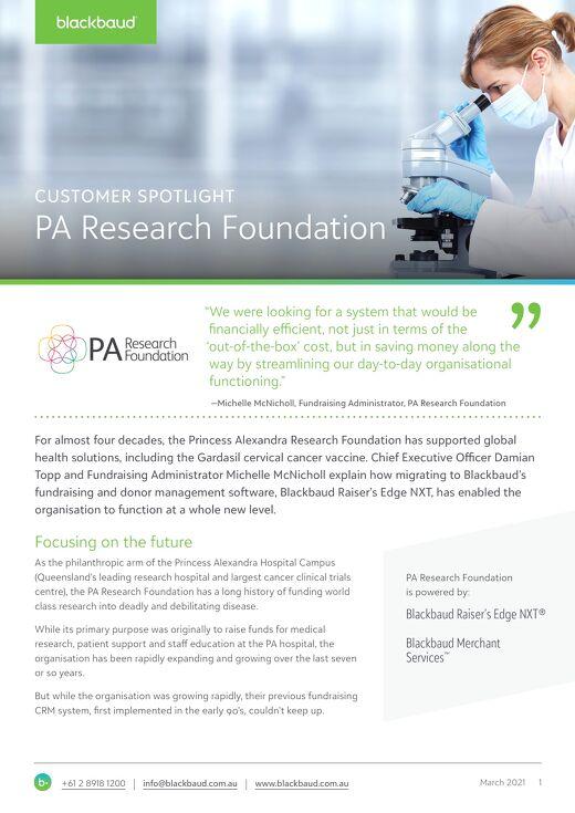 Customer Spotlight: PA Research Foundation