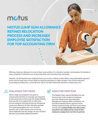 Top Accounting Firm Refines Relocation with Motus Case Study
