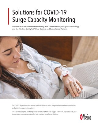 Masimo solutions for COVID-19 surge capacity monitoring