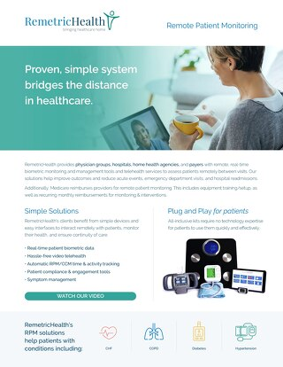 RemetricHealth remote patient monitoring