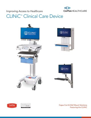 Capsa Healthcare CLINiC™ clinical care devices