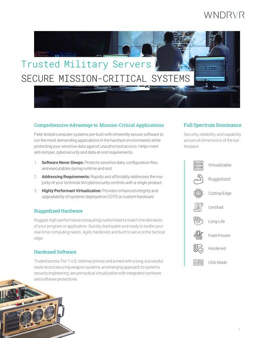 Trusted Military Servers