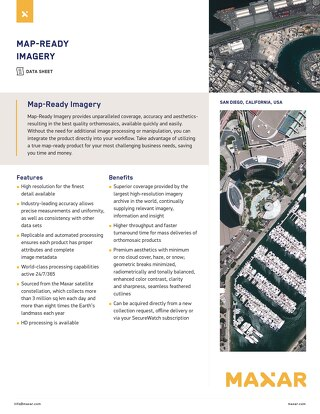 Map-Ready Imagery