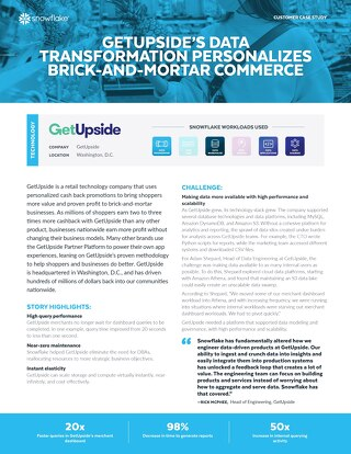Getupside's Data Transformation Personalizes Brick-and-Mortar Commerce