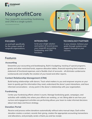 NonprofitCore Product Overview