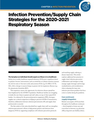 Infection prevention & supply chain strategies for the 2020-2021 respiratory season
