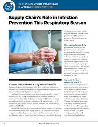 Supply chain's role in infection prevention this respiratory season