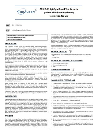 Healgen® COVID-19 rapid cassette instructions for use
