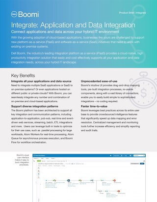 Integrate Applications & Data | 1-Pager