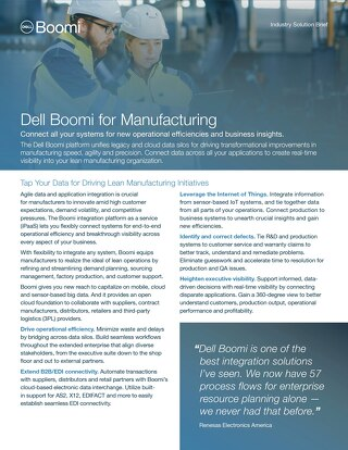 Boomi for Manufacturing | Industry Brief