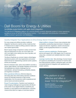 Boomi for Energy & Utilities | Industry Brief
