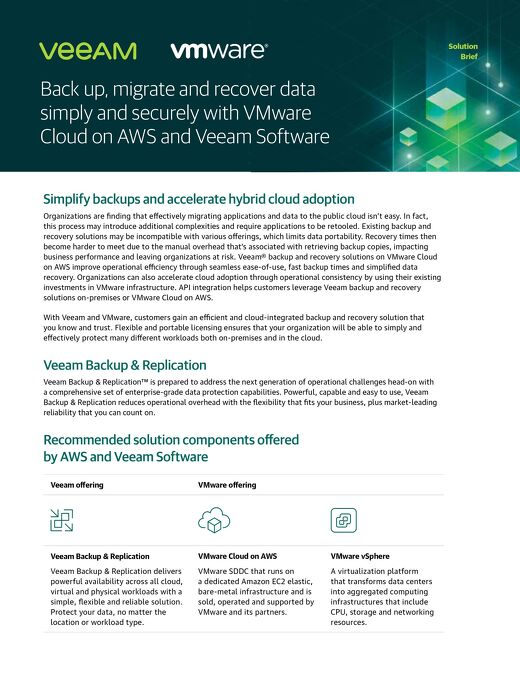 Simplify Backups and Accelerate Hybrid Cloud Adoption with Veeam