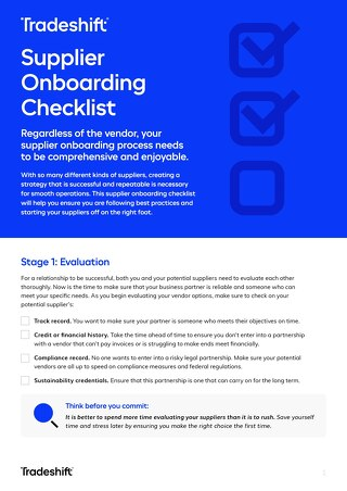 The Ultimate Supplier Onboarding Checklist