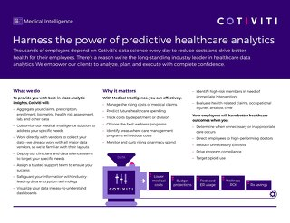 Medical Intelligence solution for employers and brokers
