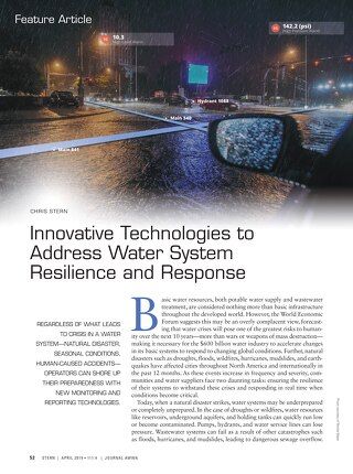 AWWA - Innovative Technologies to Address Water System Resilience and Response