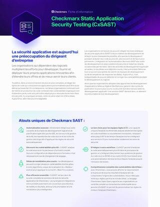 CxSAST French Datasheet