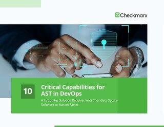 10 Critical Capabilities for AST in DevOps