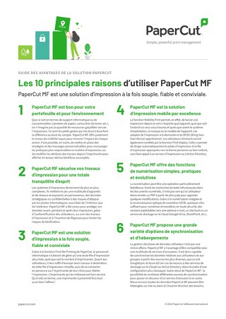 PaperCut MF Top10 Guide en Français